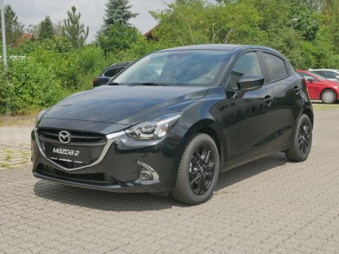 Mazda2 KIZOKU Onyxschwarz Frontansicht