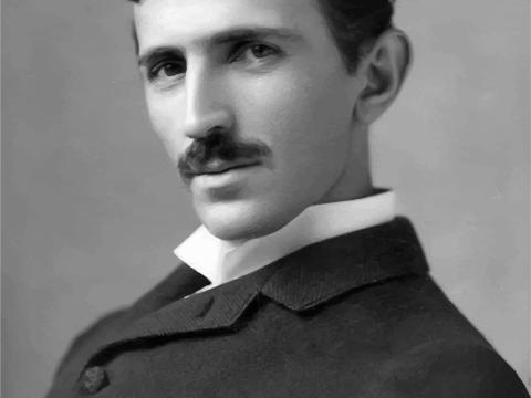 Porträt Nikola Tesla Spule Auto Till Blog