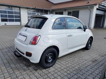 Fiat 500 Anhängerkupplung nachrüsten München Heckansicht