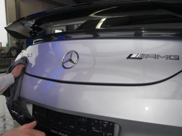 Handwaesche Trocknen Lackaufbereitung Muenchen Mercedes Sls 06