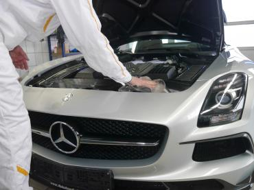Handwaesche Trocknen Lackaufbereitung Muenchen Mercedes Sls 11