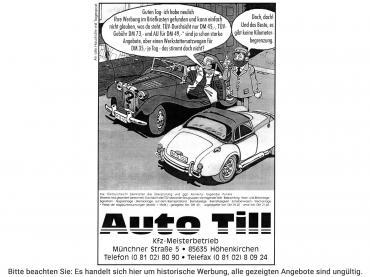 Historische Auto Werbung Auto Till