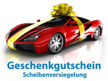 Geschenk Gutschein Auto Pflege Scheibenversiegelung